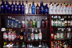 A wide selection of your favorite vodkas in the Ship's Store